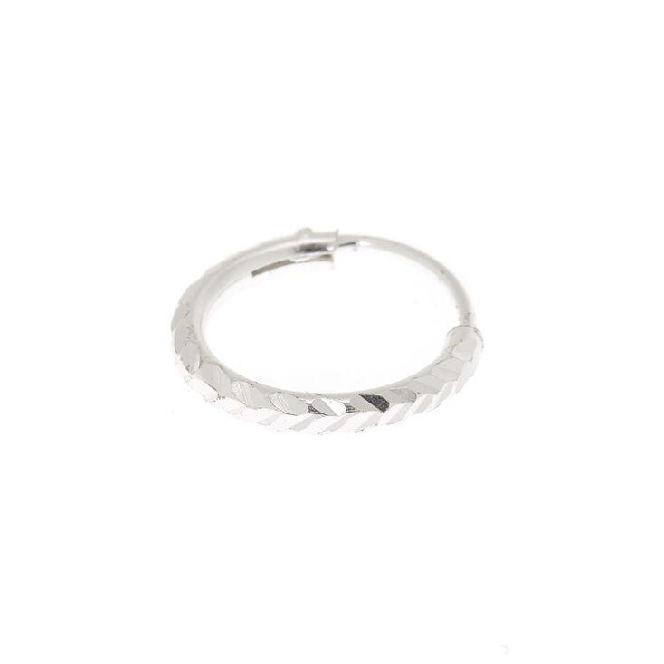 Sterling Silver 22G Lazer Cut Cartilage Hoop Earring,