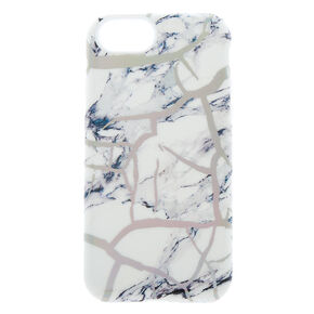 Holographic Cracked Marble Protective Phone Case - Fits iPhone 6/7/8/SE,