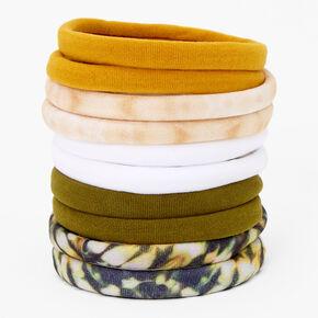 Neutral Prints Rolled Hair Ties- 10 Pack,