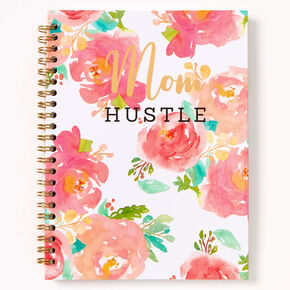 Mom Hustle Floral Notebook - Pink,