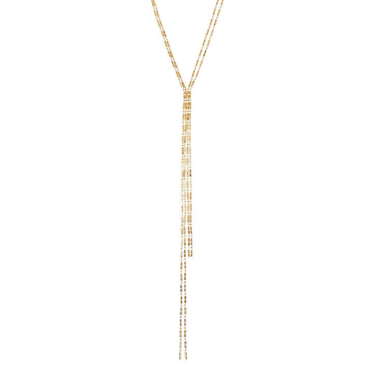 Gold Toned Skinny Chain Necklace,