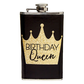 Birthday Queen Flask - Black,
