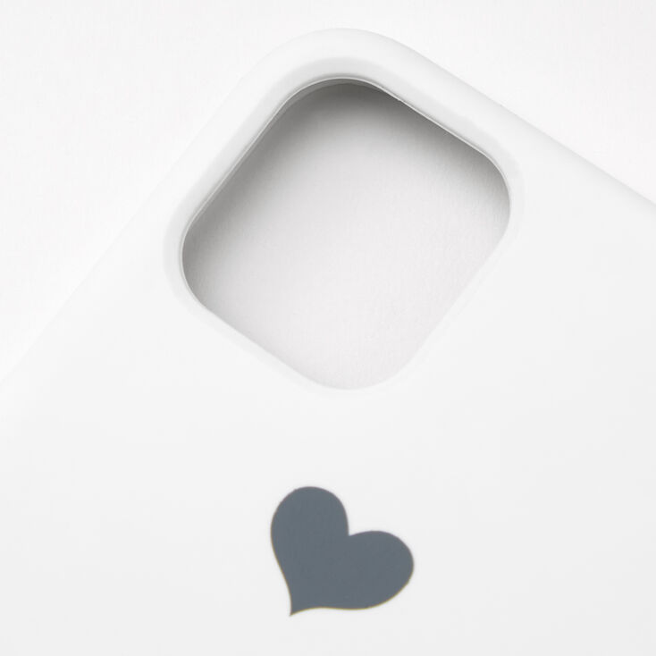 White Heart Phone Case - Fits iPhone 11 Pro Max,