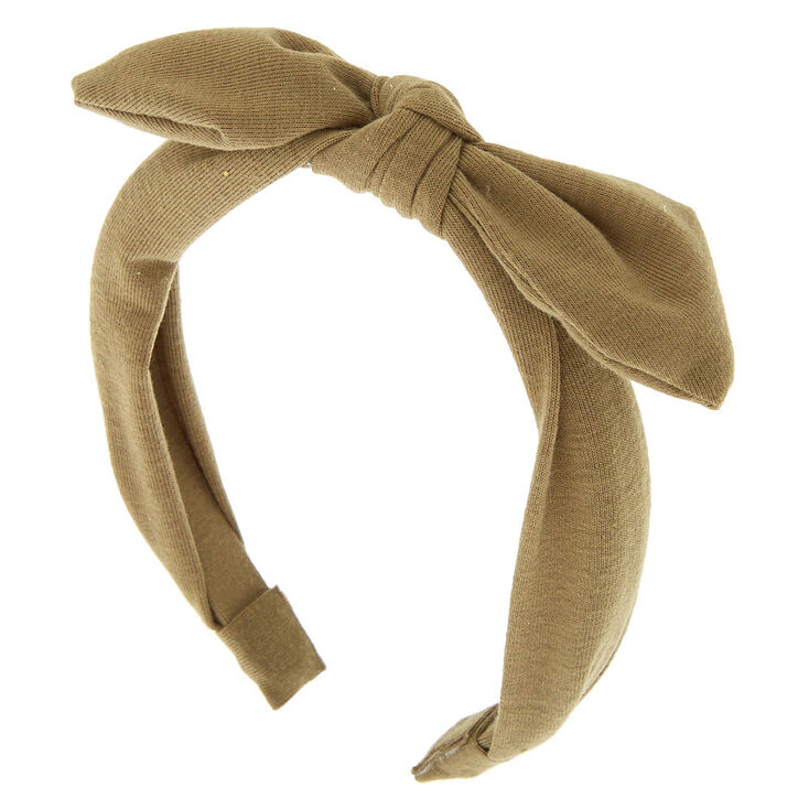 Jersey Solid Knotted Bow Headband - Sage,