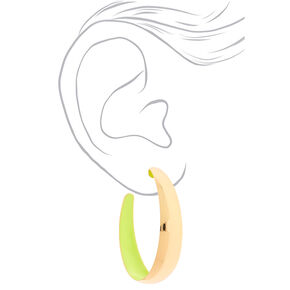 Gold 50MM Hoop Earrings - Yellow,