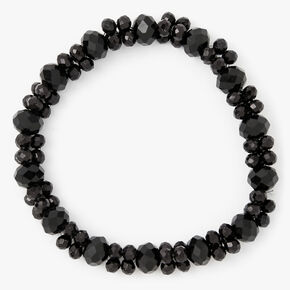 Faceted Beaded Stretch Bracelet - Black,