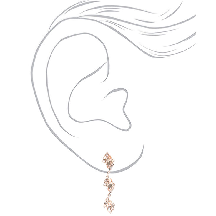 Rose Gold Silk Stone Eyelet V Jewelry Set - 2 Pack,