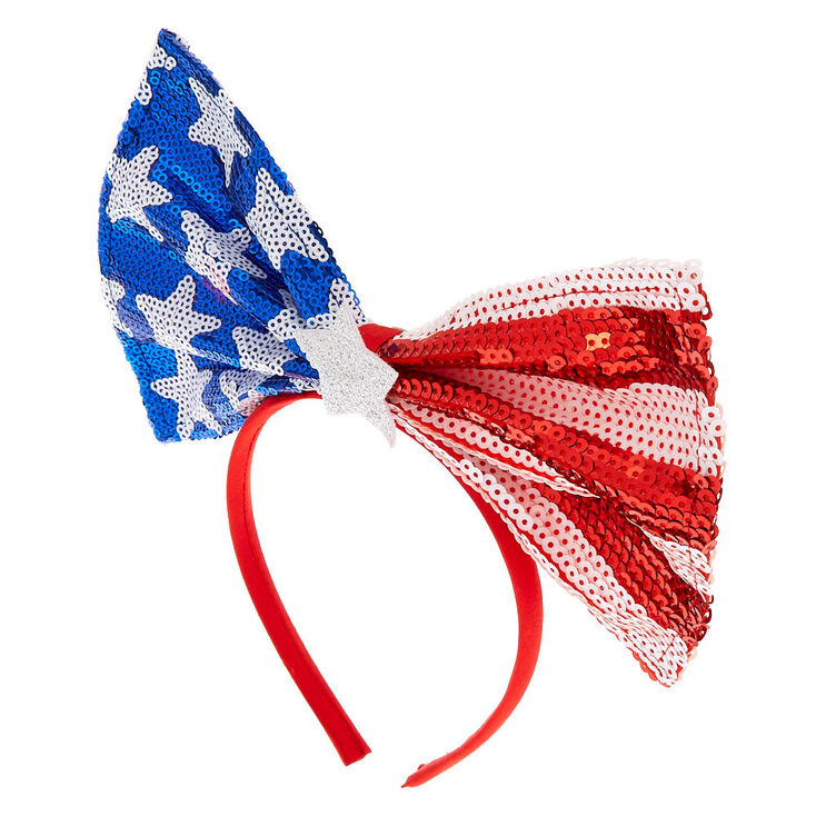 Oversized USA Bow Headband,
