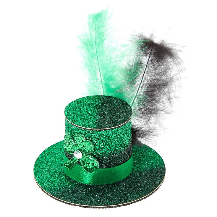 St. Patrick's Day Glitter Mini Hat Hair Clip,