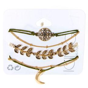 Antique Mother Nature Bracelets - Green, 5 Pack,