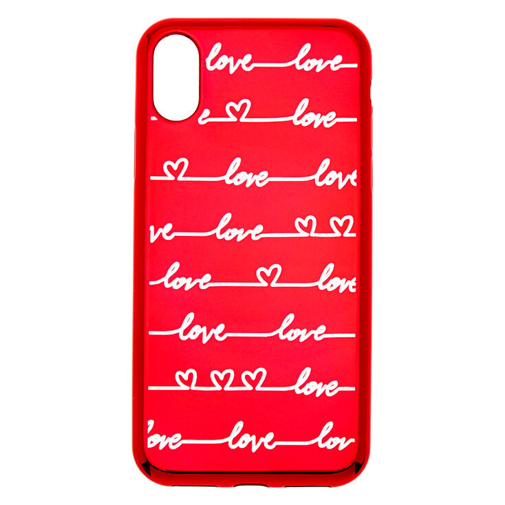 Love Script Phone Case - Fits iPhone X/XS,