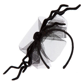Large Spider Headband - Black,