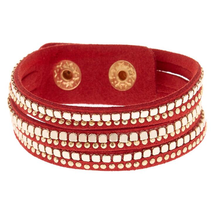 Western Wrap Bracelet - Red,