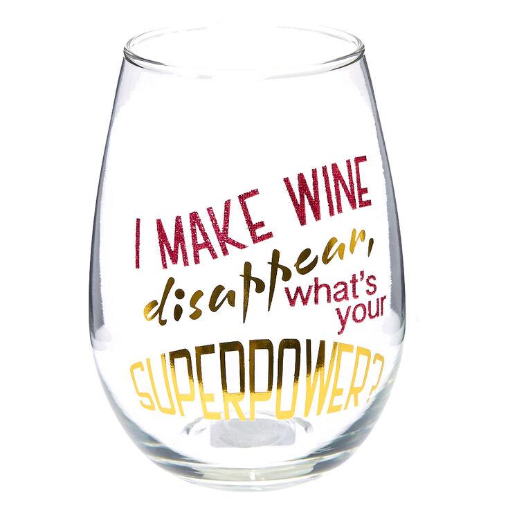 Superpower Wine Glass,