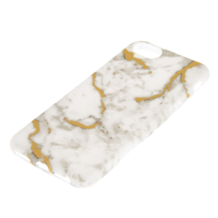 White + Gold Marble Phone Case - Fits iPhone 6/7/8/SE,