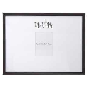 Mr. & Mrs. Guest Book Photo Frame - White,