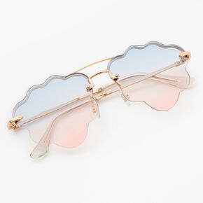 Gold Blue & Pink Ombre Cloud Sunglasses,
