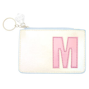 Pearlescent Initial Coin Purse - M,