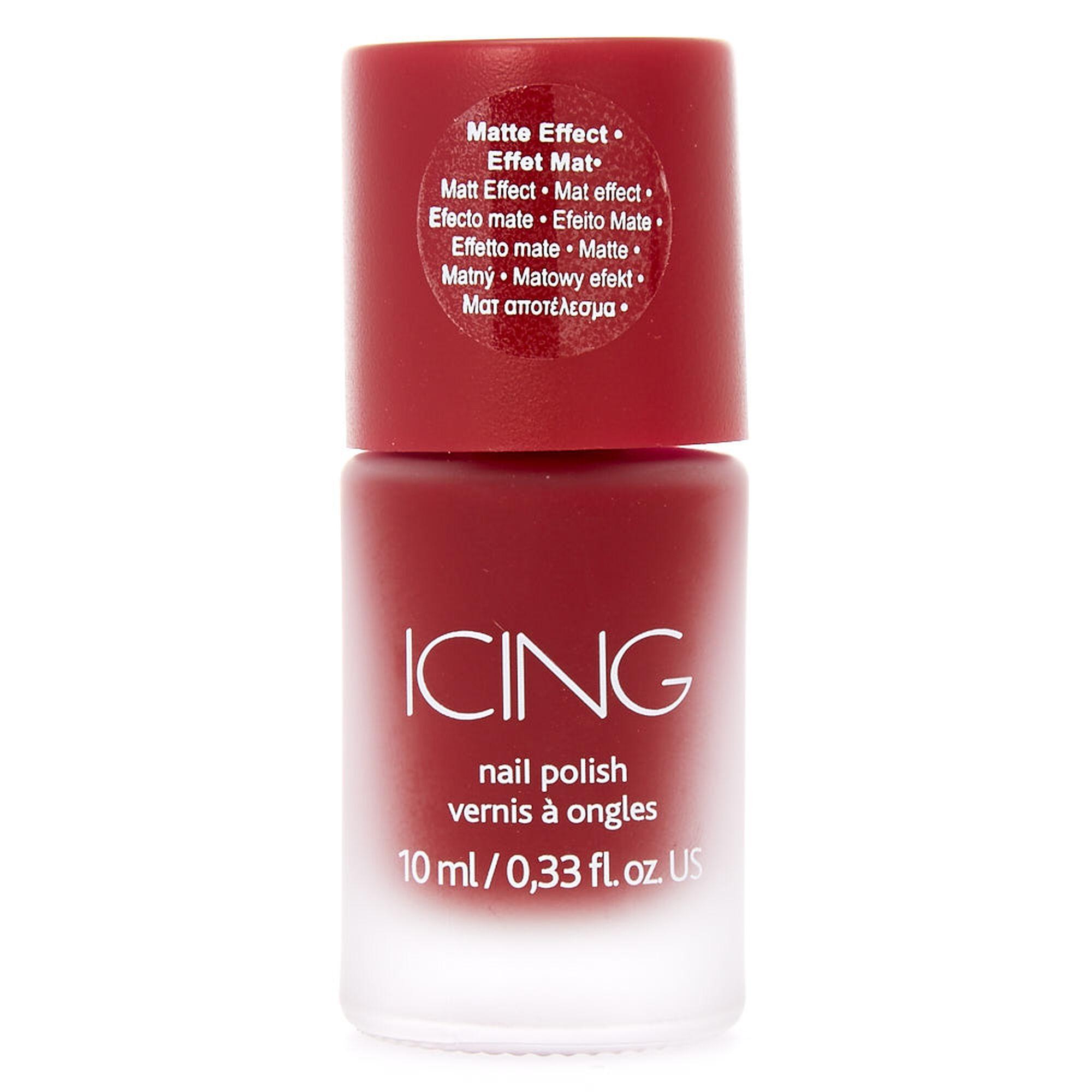 Dark Red Matte Nail Polish | Icing US
