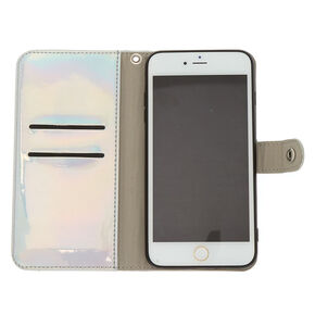 Holographic Folio Phone  Case - Silver,