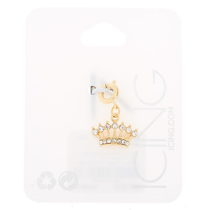 Gold Crown Bracelet Charm,