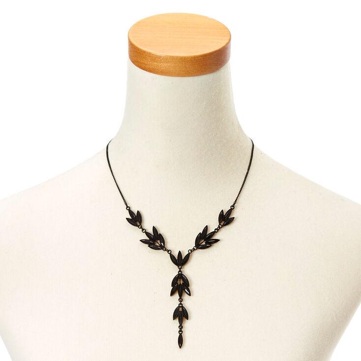 Black Vine Necklace & Earring Set,