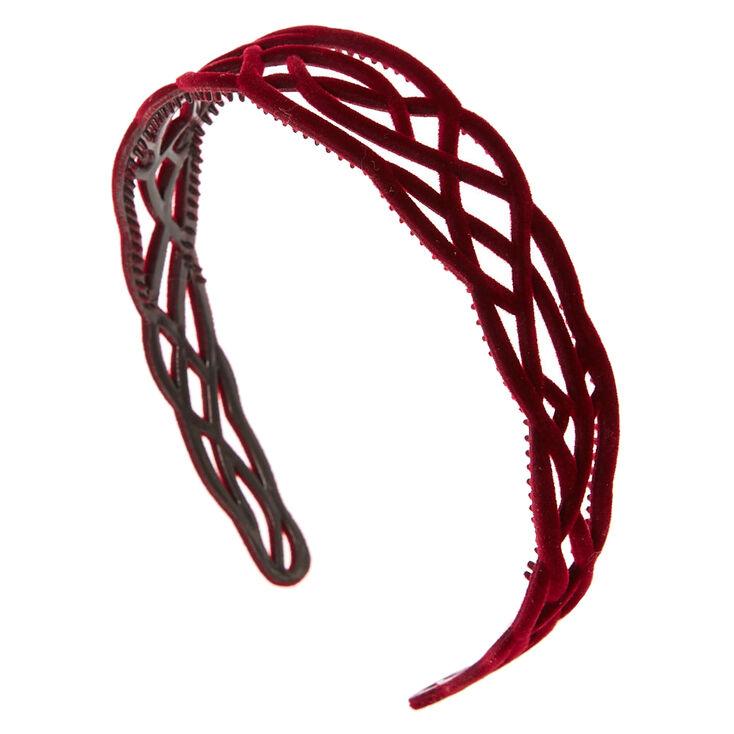 Burgundy Velvet Headband,
