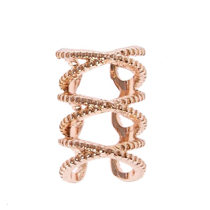 Triple Infinity Symbol Ear Cuff,