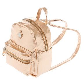 574492080340 Metallic Rose Gold Mini Backpack