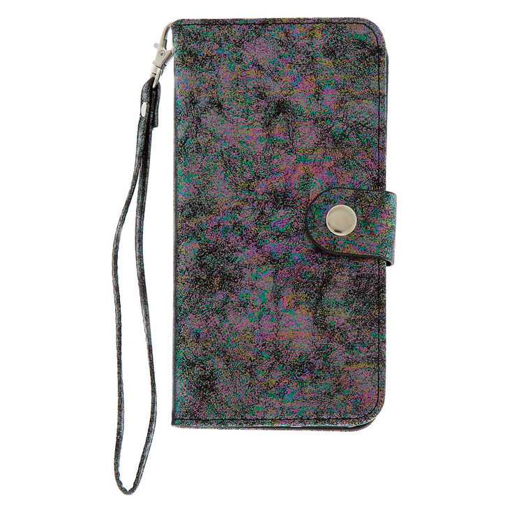 Oil Slick Metallic Folio Phone Case - Fits iPhone 6/7/8 Plus,
