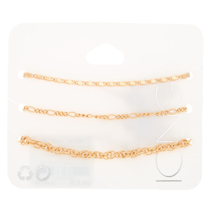 Gold Chained Statement Bracelets - 3,