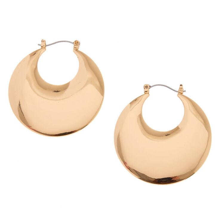 40M Gold-Tone Disc Hoop Earrings,