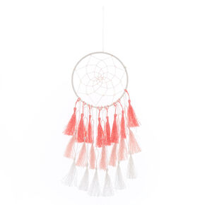 Pink & White Tassel Dreamcatcher,