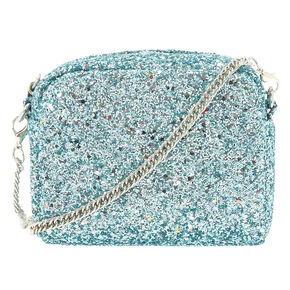 Mini Glitter Crossbody Bag Aqua