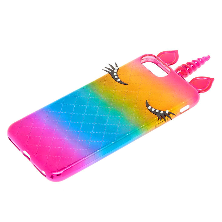 Metallic Rainbow Unicorn Phone Case - Fits iPhone 6/7/8 Plus,