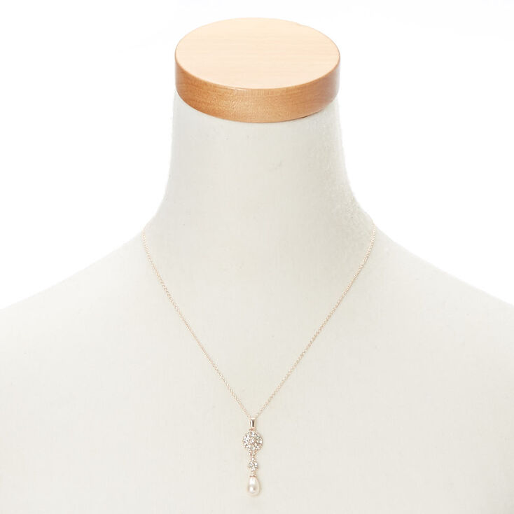 Blush Pearl Rose Gold Pendant Necklace,