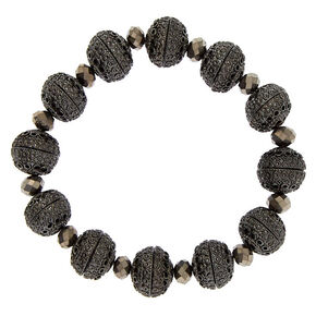 Hematite Bauble Stretch Bracelet,