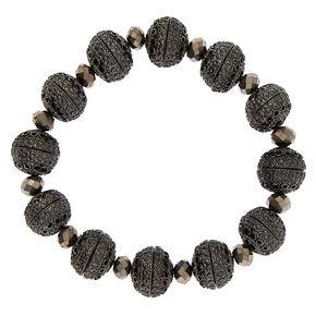 Hematite Bauble Stretch Bracelet,