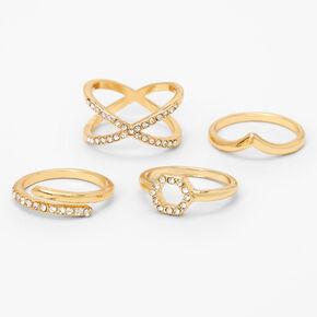 Oval Shiny Stones Stretch Bracelet,