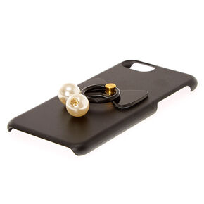 Faux Pearl Ring Stand Phone Case,