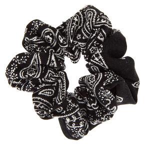 Bandana Hair Scrunchie - Black,