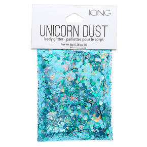 Teal Unicorn Dust Glitter Pouch,