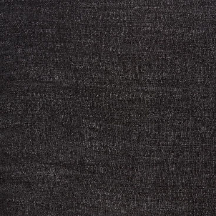 Solid Black Knit Scarf,