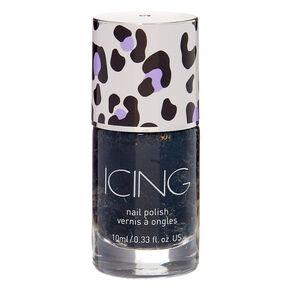 Leopard Glitter Nail Polish - Black,