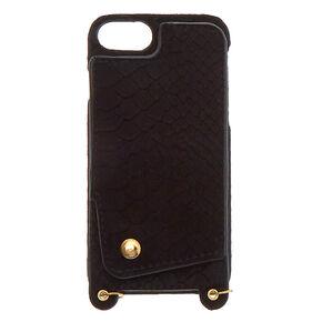 Black Crossbody Phone Case - Fits iPhone 6/7/8,