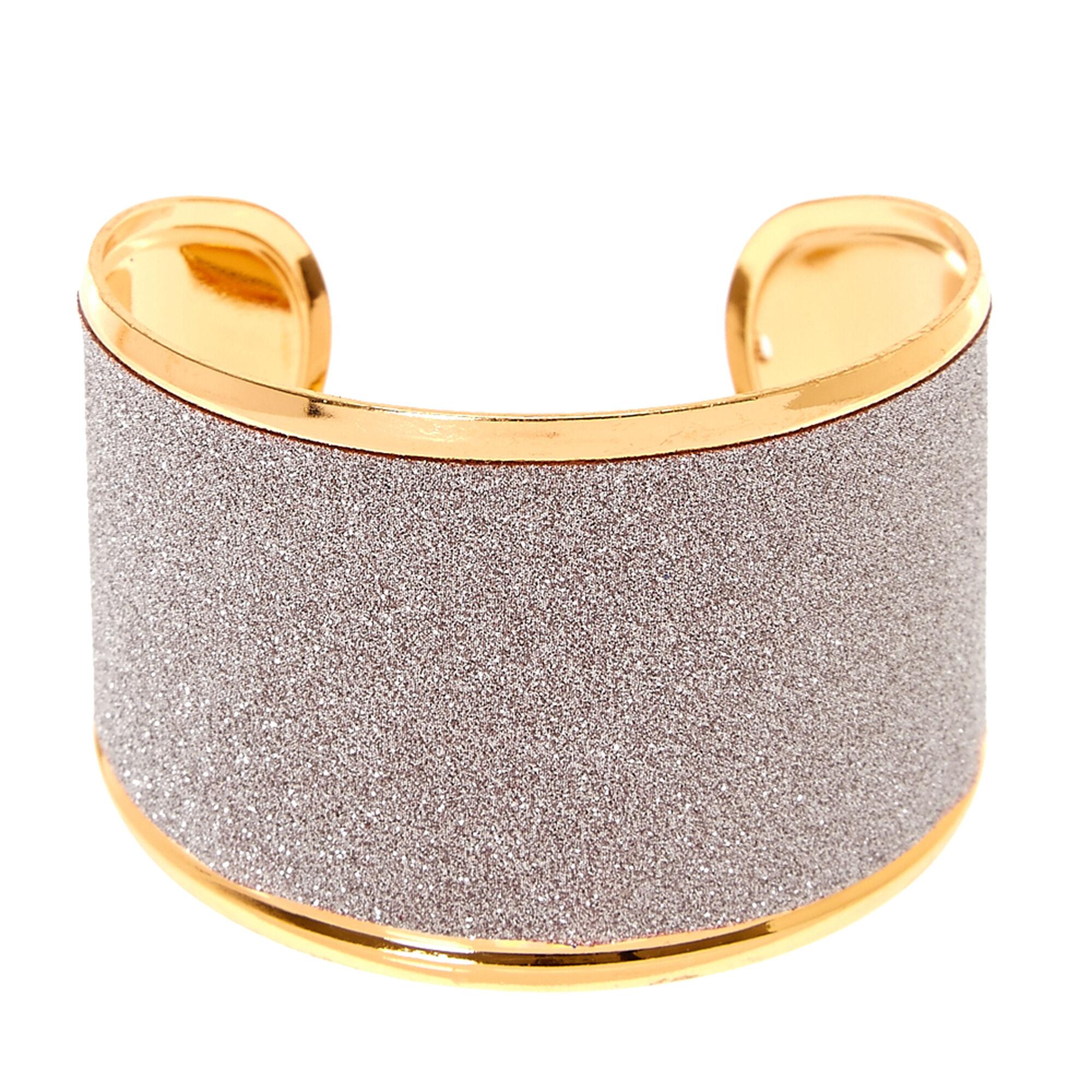 Silver Glitter Tape Cuff Bracelet