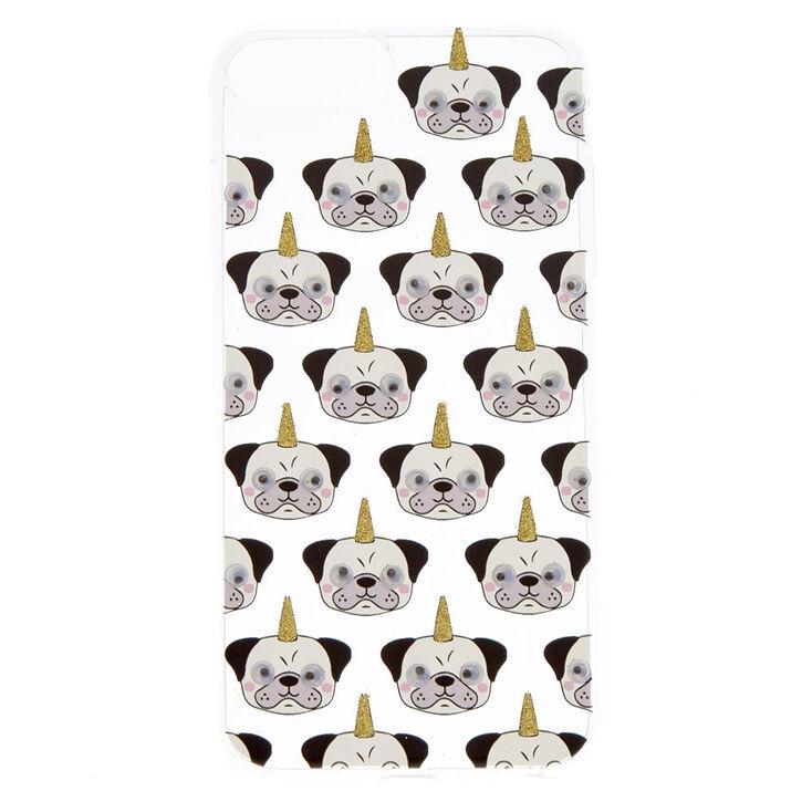 Clear Pugicorn Phone Case - Fits iPhone 6/7/8 Plus,