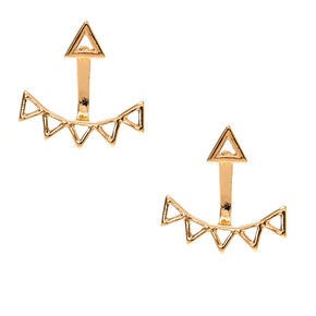 Gold-Tone Front & Back Stud Earrings,