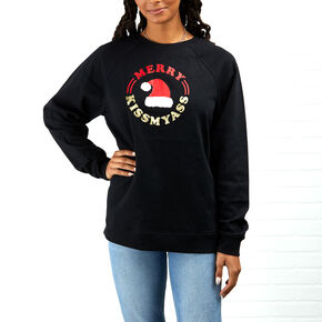 Merry Kiss My Ass Sweatshirt - Black,