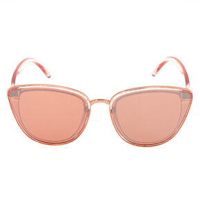 Mirrored Mod Cat Eye Sunglasses - Rose Gold,
